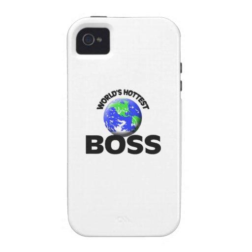Boss más caliente del mundo iPhone 4 carcasas