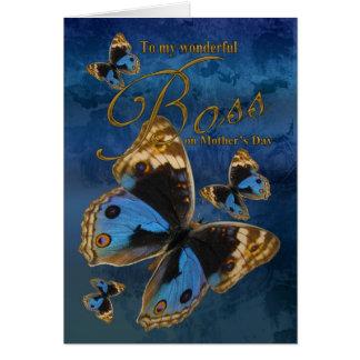 Boss, tarjeta del día de madre con las mariposas