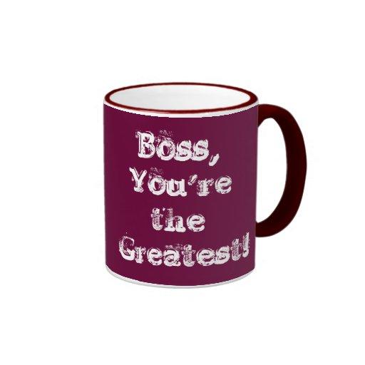 ¡Boss, usted es el más grande!  15 onzas. taza