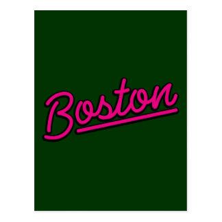 Boston en magenta postal