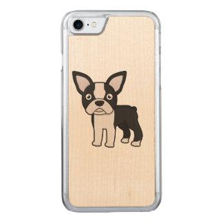 Boston linda Terrier Funda Para iPhone 7 De Carved
