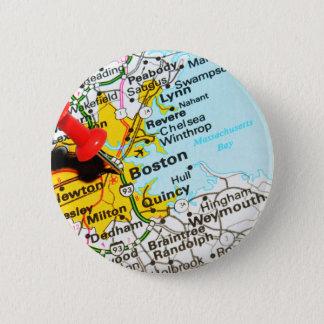 Boston, Massachusetts Chapa Redonda De 5 Cm