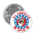 Boston patriótica Terrier Chapa Redonda De 2,5 Cm