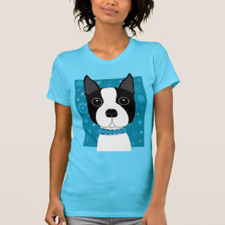 Boston Terrier en invierno Camiseta