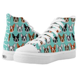 Boston Terrier hola remata - los zapatos lindos