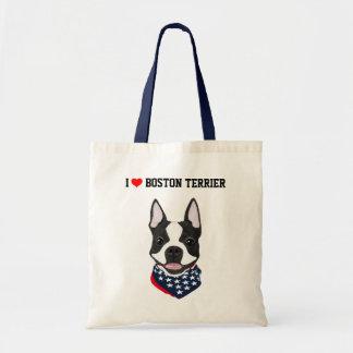 Boston Terrier ilustró la bolsa de asas