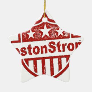 BostonStrongShield.png Adorno De Cerámica En Forma De Estrella