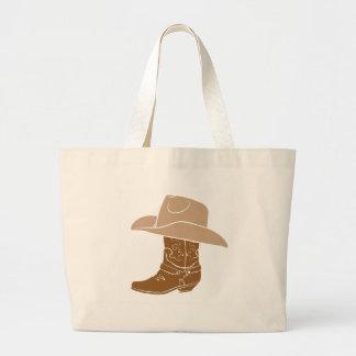 Bota y gorra de vaquero bolso de tela gigante
