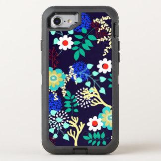 Botánico de medianoche - estampado de flores funda OtterBox defender para iPhone 8/7