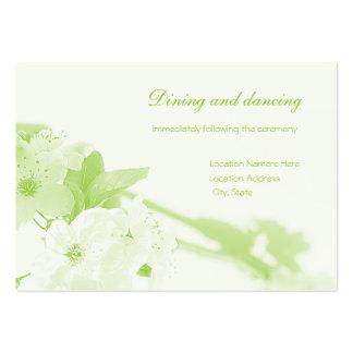 Botánico (tarjeta de la recepción) tarjetas de visita grandes