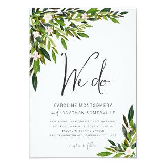Botánicos determinados de la invitación del boda
