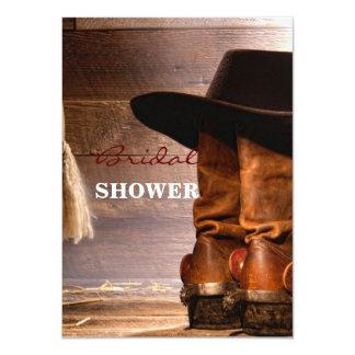 Botas de montar a caballo y gorra de vaquero invitación 11,4 x 15,8 cm