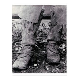 Botas de vaquero postal