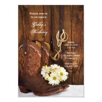 Botas de vaquero y fiesta de cumpleaños del país comunicado personalizado