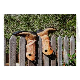 Botas de vaqueros tarjeta