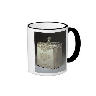 Bote de plata del té de Paul de Lamerie Taza A Dos Colores