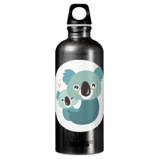Botella De Agua Abrazo dulce de la madre y del bebé de la koala