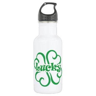 Botella de agua afortunada