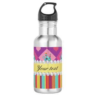 Botella De Agua Alicia colorida en el país de las maravillas y