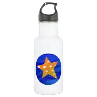 Botella de agua amarilla de la estrella