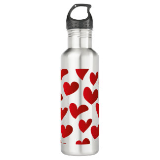 Botella De Agua Amor rojo pintado modelo del corazón del ejemplo