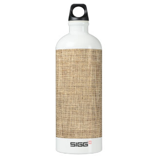 Botella De Agua Arpillera rústica del vintage del país