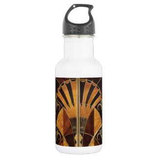 Botella De Agua arte Nouveau, art déco, vintage, colores de madera