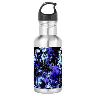 Botella de agua azul de la pintura