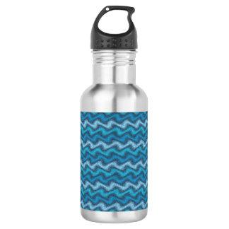 Botella De Agua Azul ondulado
