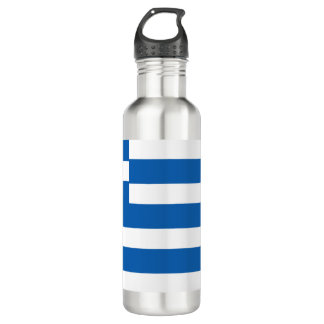 Botella De Agua Bandera de Grecia