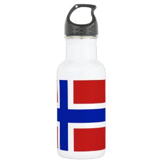 Botella De Agua Bandera del escandinavo de Noruega
