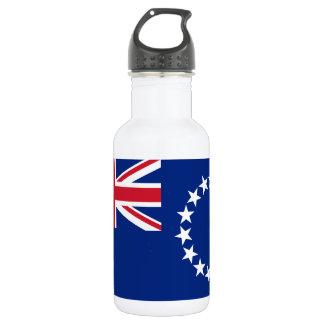 Botella De Agua Bandera nacional del mundo de Cook_Islands