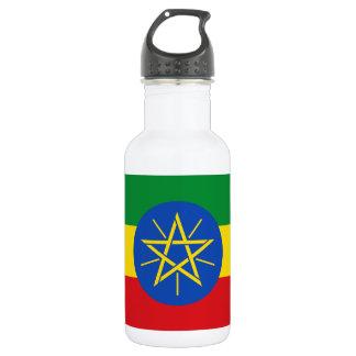 Botella De Agua Bandera nacional del mundo de Etiopía