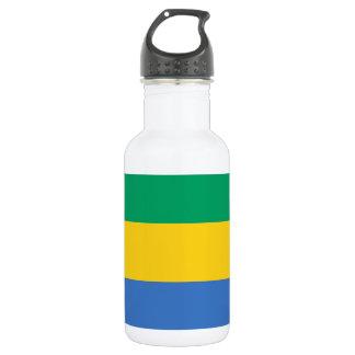 Botella De Agua Bandera nacional del mundo de Gabón