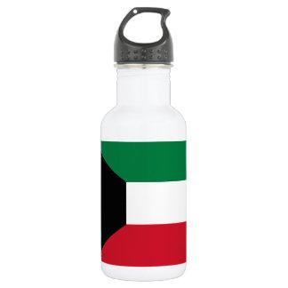 Botella De Agua Bandera nacional del mundo de Kuwait