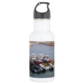 Botella De Agua Barcos de pesca en La Valeta