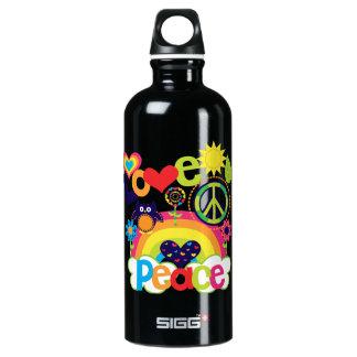 Botella De Agua Bebé del amor y de la paz