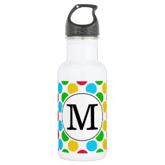 Botella De Agua Bebida con monograma de encargo del golf del punto