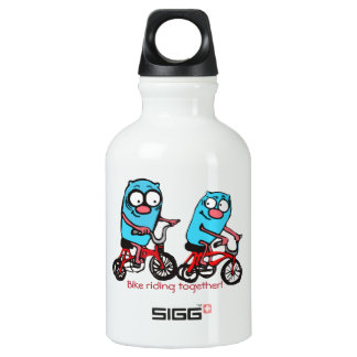 Botella De Agua Bici del amor que monta junto