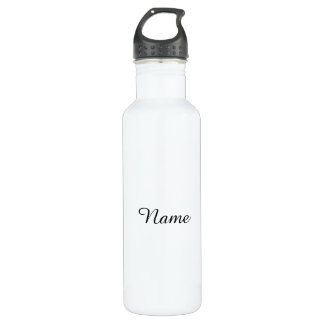 Botella De Agua Blanco sólido personalizado