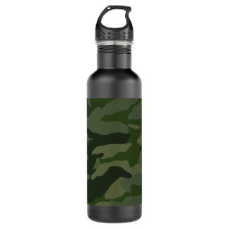 Botella De Agua Camuflaje de color caqui