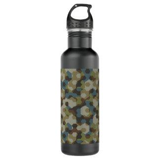 Botella De Agua Camuflaje de color caqui del hexágono