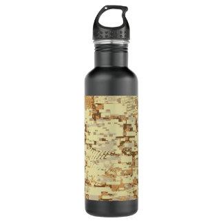 Botella De Agua Camuflaje del desierto del bloque