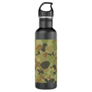 Botella De Agua Camuflaje del verde de Auscam