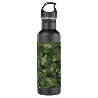 Botella De Agua Camuflaje perturbador de la montaña verde