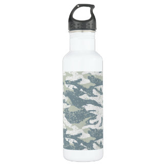 Botella De Agua Camuflaje perturbador de la nieve