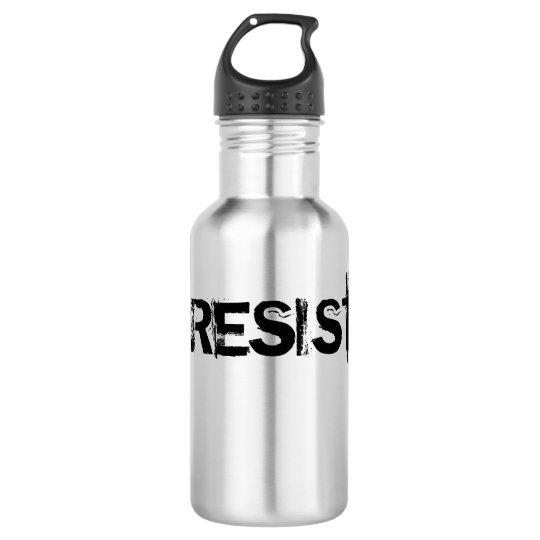 Botella De Agua Cantina del acero inoxidable del #RESIST - texto