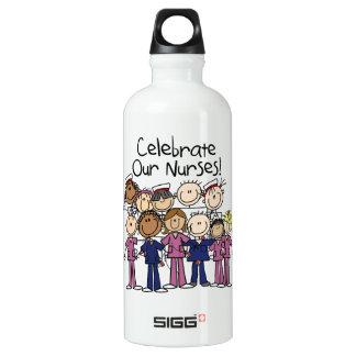 Botella De Agua Celebre a nuestras enfermeras