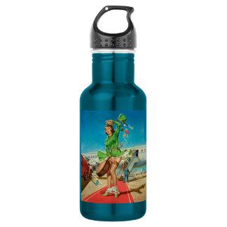 Botella De Agua Chica modelo retro del aterrizaje forzado