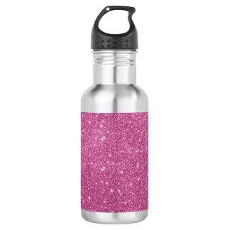 Botella De Agua Chispas del brillo de las rosas fuertes
